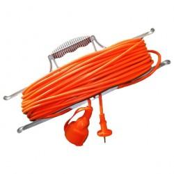 Удлинитель-шнур 30м 1гн 6А (ПВС 2х0,75) на рамке УШ-6 Универсал 9632018