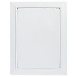Люк-дверца 300*400мм фланец, пластик, рамка 318*418мм, нажимной, Л3040, ERA