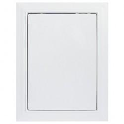 Люк-дверца 200*400мм фланец, пластик, рамка 218*418мм, нажимной, Л2040, ERA