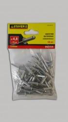 Заклепки 4,8*16мм алюминиевые Stayer /50шт/ 3120-48-16