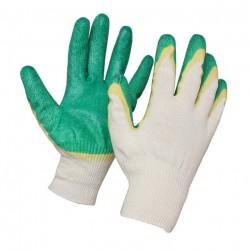 Перчатки трикотажные с двойным латексным покрытием 601019 /зел/