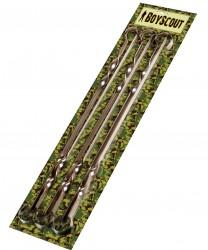 Набор шампуров 6шт 45см плоские, в блистере BOYSCOUT 61326