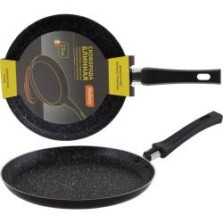 Сковорода блинная NINGBO 22см с мраморным антипригарным покрытием и ручкой