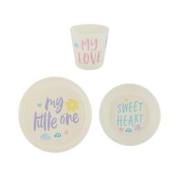 Набор детской посуды Lettering Little Angel LA5117-НК
