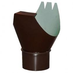 Воронка выпускная, цвет шоколадно-коричневый RAL 8017, d-100 мм