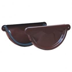 Заглушка желоба, цвет шоколадно-коричневый RAL 8017, d-125 мм