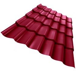Металлочерепица, цвет красный, 1.18 х 2.2 м