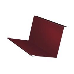 Планка примыкания, цвет красный, 130 х 160 х 2000 мм