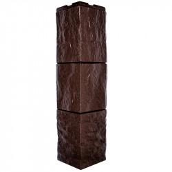 Угол внешний для фасадной панели Дачный, туф, цвет коричневый , 0.6 м