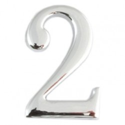 Цифра дверная Apecs 2 хром