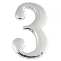 Цифра дверная Apecs 3 хром
