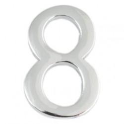 Цифра дверная Apecs 8 хром