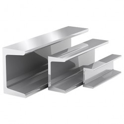 Швеллер алюминиевый, 20 х 20 х 20 х 1,5 мм, длина 2 м