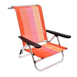 Кресло ORANGE на низких ножках, 5 положений,  алюминиевый каркас, 79*62*75см, 2,2кг BOYSCOUT