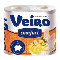 """Бумага туалетная 2х-слойная 4шт """"Linia Veiro Comfort"""" Multidom белая 61.31"""