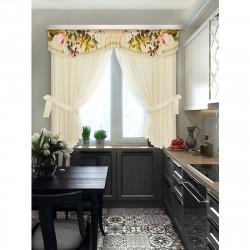 Комплект штор для кухни Нежность стиля CR 100827 1,4*1,8м/2шт /3*0,48/ 2подхвата