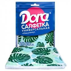 Салфетка универсальная для уборки Dora с цветным принтом 30*30см