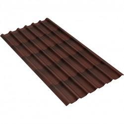 Черепица Ондулин цвет коричневый 1950мм х 960 мм