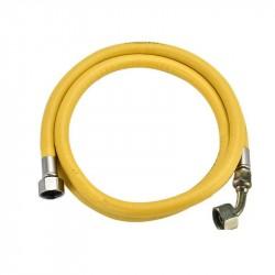 Шланг для газовых приборов резиновый желтый 1/2*1,5м с нак. гайкой в/в