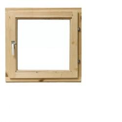 Одностворчатое деревянное окно с однокамерным стеклопакетом 48х48см