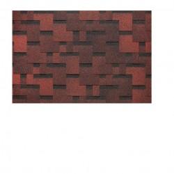 Гибкая черепица Docke PIE EURASIA/ ЛАБИРИНТ/ Красный 3м2