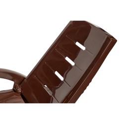 Шезлонг складной на колесах с ящиком шоколадный