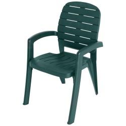 Кресло пластик Прованс, цвет темно-зеленый