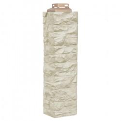 Угол внешний для фасадной панели FineBer, скала, цвет песочный, 0.47 м