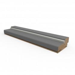 Коробочный брус ПВХ Grey Soft 32*70 (сосна + мдф) телескопический с уплотнителем (Trend)