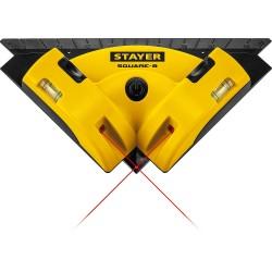 Уровень лазерный угловой STAYER SQUARE-8, 8м, точн. +/-0,4 мм/м, 34928