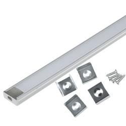 Профиль накладной для светодиодной ленты с матовым рассеивателем UFE-K02