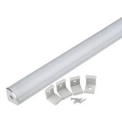 Профиль угловой для светодиодной ленты с матовым рассеивателем UFE-K06
