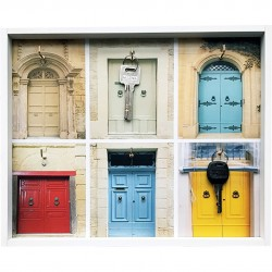 "Ключница ""Двери"" Волшебная страна МДФ 008547"