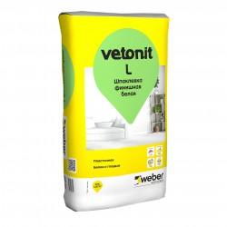Шпаклевка финишная белая Weber.vetonit L, 20 кг