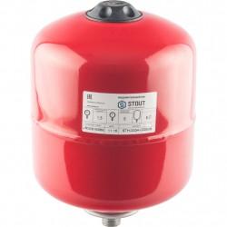 Расширительный бак для отопления 8л STOUT красный