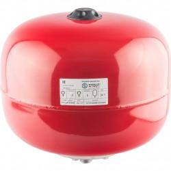 Расширительный бак для отопления 24л STOUT красный