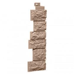 Угол внешний для фасадной панели FineBer, камень дикий, цвет терракотовый, 0.47 м