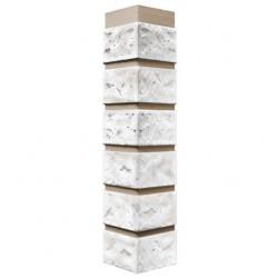 Угол наружный к фасадной панели FineBer 0,47м Кирпич мелованный белый