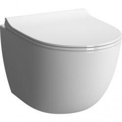 Унитаз подвесной безободковый Rim-ex Sento с тонким сиденьем дюропласт, микролифт