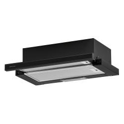 Вытяжка кухонная встраиваемая,плоская  Krona KAMILLA 600 GLASS BLACK планка стекло