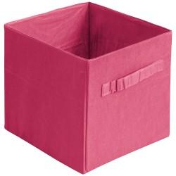 Коробка стеллажная на молнии 310*310*310мм Бордовый