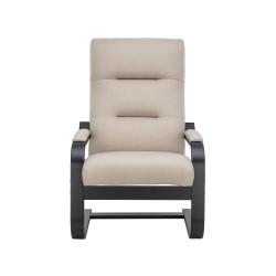 Кресло дизайнерское Leset Оскар 104х80см венге, ткань бежевый