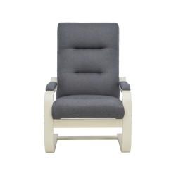 Кресло дизайнерское Leset Оскар 104х80см слоновая кость, ткань серый