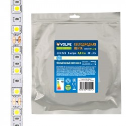 Лента светодиодная Volpe ULS-Q320 2835-60LED/m-8mm-IP20-DC12V-4,8W/m-5M-3000K