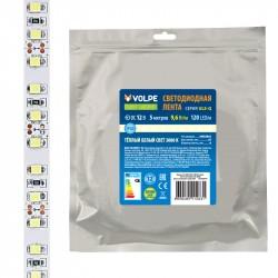 Лента светодиодная Volpe ULS-Q330 2835-120LED/m-8mm-IP20-DC12V-9,6W/m-5M-3000K