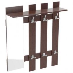 Вешалка с крючками и зеркалом ТАК-9 (1,0*0,270*1,180) венге темный