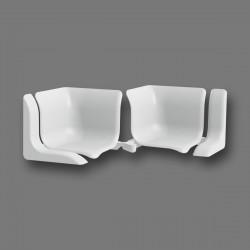 Набор комплектующих для универсального бордюра Идеал белый