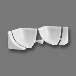 Набор комплектующих для галтели с мягкими краями Идеал Белый ГМ-ф1Н4К 001