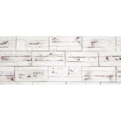 Камень интерьерный гипсовый с вкраплениями Боро 200*95 Белый 02