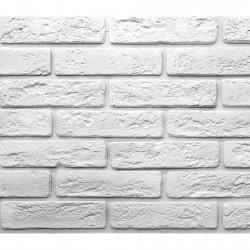 Камень интерьерный гипсовый Джерси 18,5*4,5 Белый 900